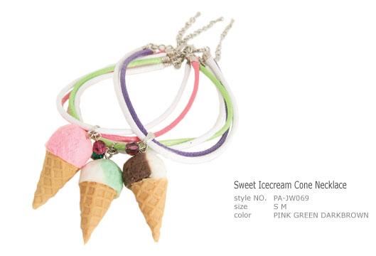 PA-JW069 - Sweet Icecream Cone Necklace